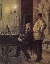 С.И.Мамонтов и П.А.Спиро у рояля. 1882