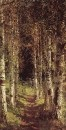 Березовая аллея в Абрамцеве. 1880