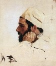 Голова И.И.Левитана в повороте головы Христа в картине Мечты. 1894