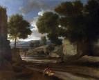 Пейзаж с отдыхающими путешественниками (1638-1639) (Лондон, Нац. галерея)