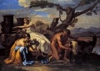 Воспитание Юпитера (1639-1643 (97 х 133) (Берлин, Гос.музей)