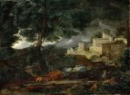 Пейзаж с грозой (1651) (99 х 132) (Руан, Музей искусств)