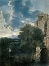 Пейзаж с Агарью и ангелом (1660-е) (100 х 75) (Рим, Нац. галерея антики)