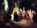 Французская комедия (ок.1716) (37 x 48) (Берлин, Гос.музей)