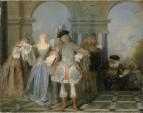 Францияские комедианты (1720-1721) (57 х 73) (Нью-Йорк, Метрополитен)