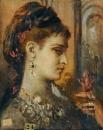 Этюд к Саломее с головой св.Иоанна Крестителя (40.4 х 32.6 см) (Париж, музей Гюстава Моро)