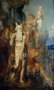 Моисей снимает сандали, глядя на Землю Обетованную