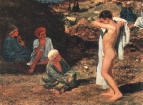 Семь мальчиков в цветных одеждах и драпировках. 1840-е