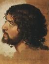Голова дрожащего молодого мужчины, в повороте. 1840-е