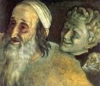 Полуфигура поднимающегося старика. Голова фавна. 1830-е