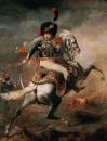 Офицер конных егерей императорской гвардии, идущий в атаку