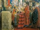 Русские женщины XVII столетия в церкви