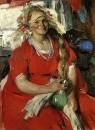 Женщина в красном. 1919