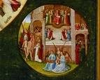 Деталь. Рай и апостол Пётр у врат райских