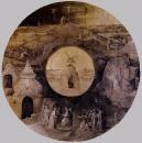 19.Св.Иоанн Богослов на Патмосе со сценвми страст. Христ. (1490-1500) (Берлин, Гос.музей)