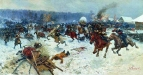 Атака шведов ярославскими драгунами у деревни Эрестфер 29 декабря 1701 года