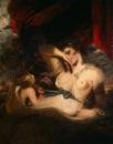 Амур развязывает пояс Венеры