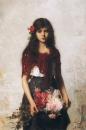 Портрет девочки с красной шалью