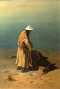 Киргиз у падшей лошади