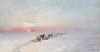 Зимний пейзаж с обозом