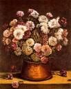 Flores en cuenco de cobres