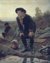 Рыболов. 1871 Холст, масло. 91x68.7 ГТГ