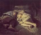 Спящие дети. 1870 Х., м. 53х61 ГТГ