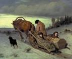 Проводы покойника. 1865 Холст, масло. 43.5x57 ГТГ