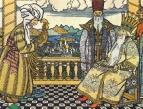 Астролог дает золотого петушка Дадону