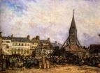 Рынок у церкви в Онфлёре