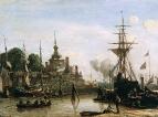 Вид на гавань Роттердама