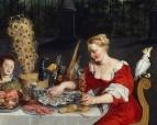 Чувства слуха, осязания и вкуса, деталь, 1618