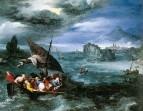 Христос в бурю на море Галилейском, 1596