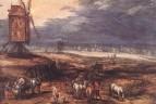 Пейзаж с ветряной мельницей, 1607
