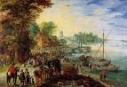 Рыбный рынок на берегу Реки