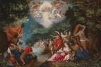 Jan Brueghel, Hans Rottenhammer - Крестины Христа в Иордане, 1600