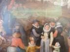 Большой рыбный рынок, деталь  семья художника, 1603