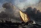 Корабли в бурном море