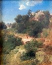 Мост в горном пейзаже. 1858