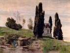Фрески павильона Карла Сарацина-Савойского. Левая панель. Отдых во время бегства в Египт. 1868