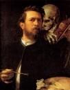 Автопортрет со скрипкой смерти, 1871-1874