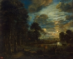 Ночной пейзаж с видом на реку