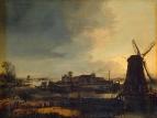Пейзаж с мельницами, 1647-1649