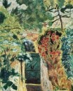 1943 vers La Porte de la villa le Bosquet Vue du jardin