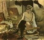 1904 vers Jeune Femme assise sur une chaise longue