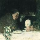 1897 Grand-mere et enfant