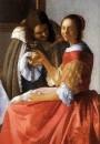 Дама и два кавалера деталь