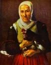 Старая женщина с курицей