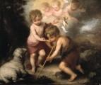 Младенец Иисус дает воду св. Иоанну