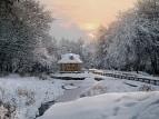 Исток Волги. Зимний вечер.
